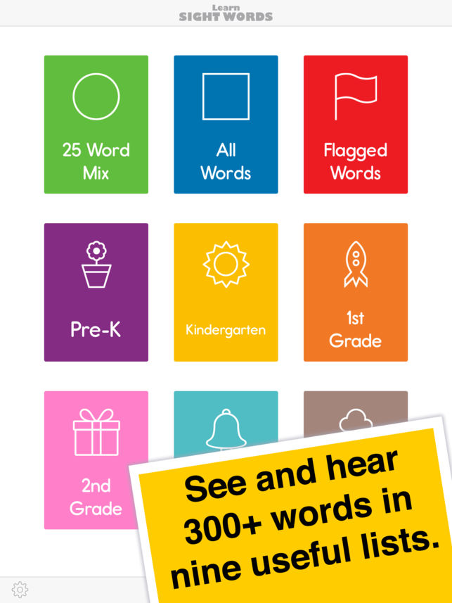 learn sight word app