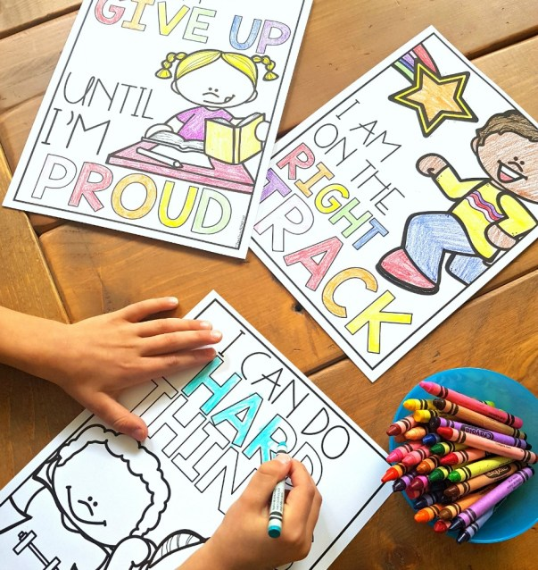 growth mindset activities for elementary students - coloring pages