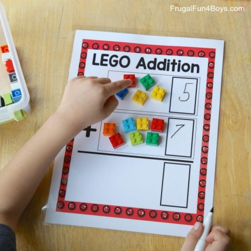 lego addition - frugal fun for boys