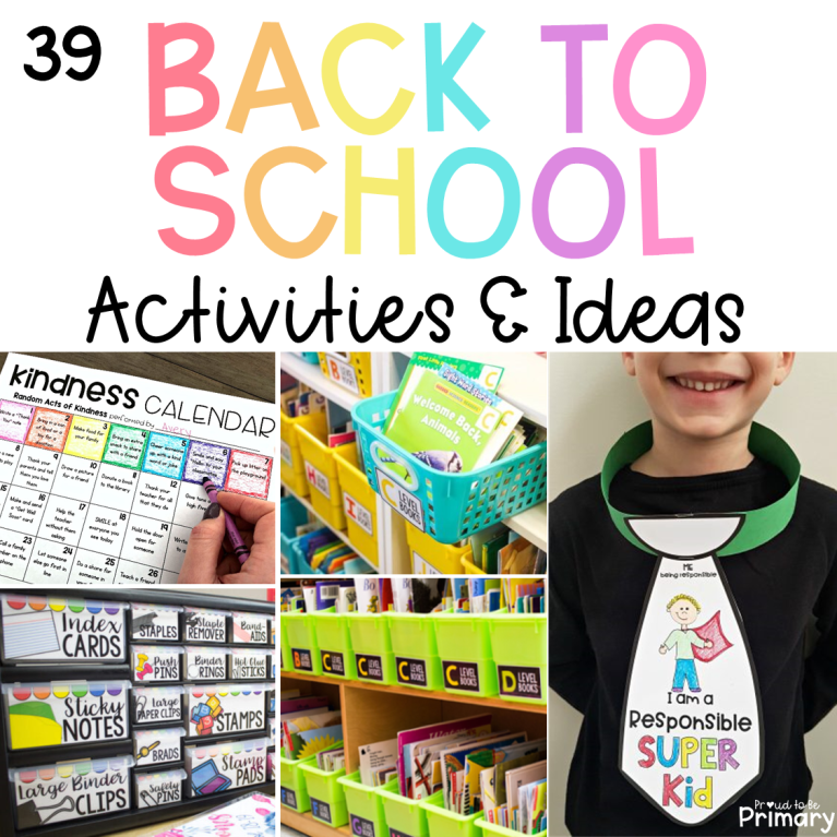 back to school activities and ideas