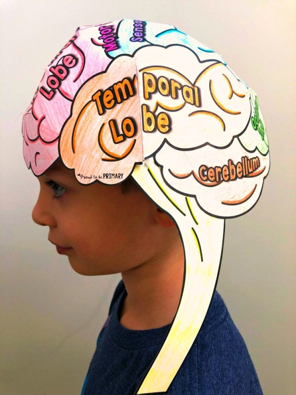Developing a Growth Mindset - Brain Hat for Kids