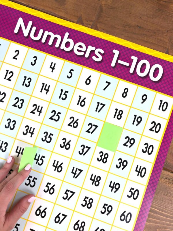 guess the number on a hundred chart game
