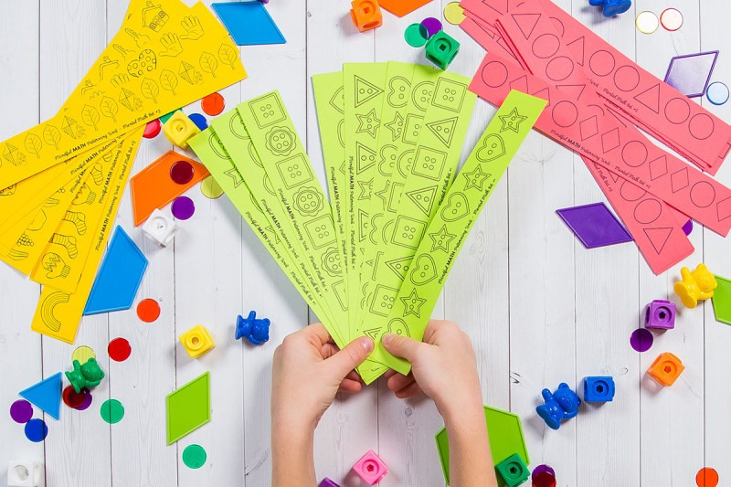 mental math pattern cards for learning