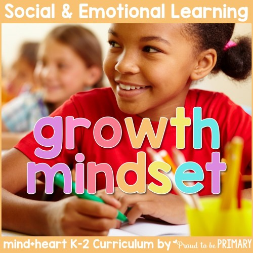 growth mindset unit social-emotional learning curriculum for K-2