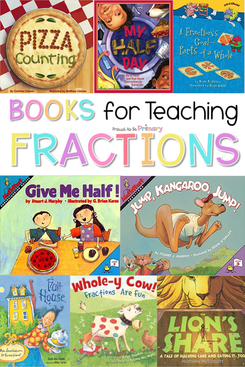 books and activities for teaching and learning fractions in primary k-2