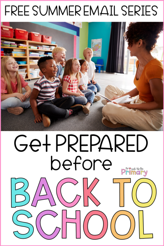 FREE Back to School Summer E-Course for Primary Teachers
