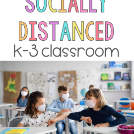 classroom social distancings ideas for k-3 - kids touching elbows