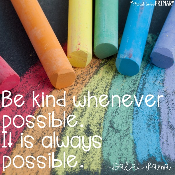 encourage random acts of kindness for kids in the classroom - quote
