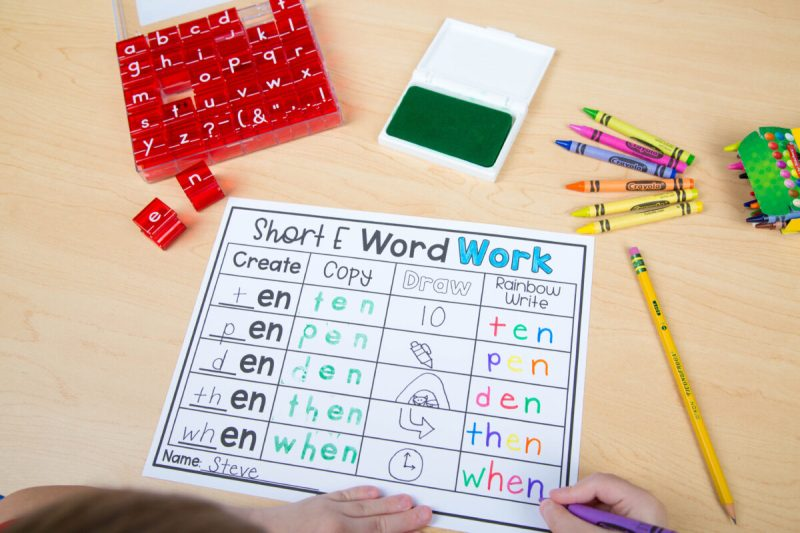 How to Teach Phonics Skills with Word Families in K-2