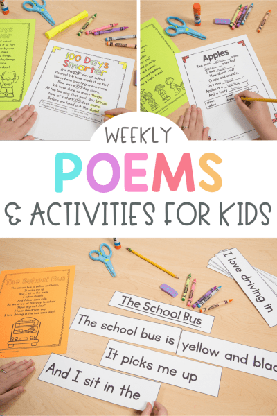 Weekly Poems and Activities for Kids in K-2