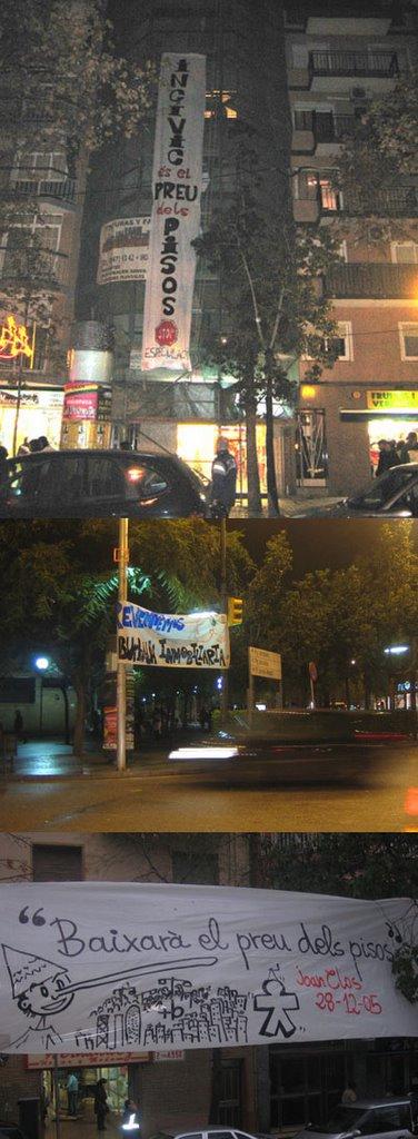 Pancartes aparegudes a Nou Barris