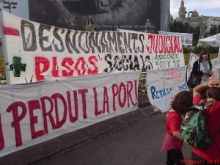 pancarta de 500x20 a plaza catalunya