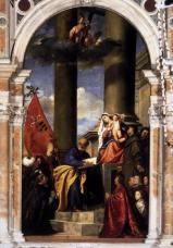Tiziano-Verge de la família de Pesaro-1526