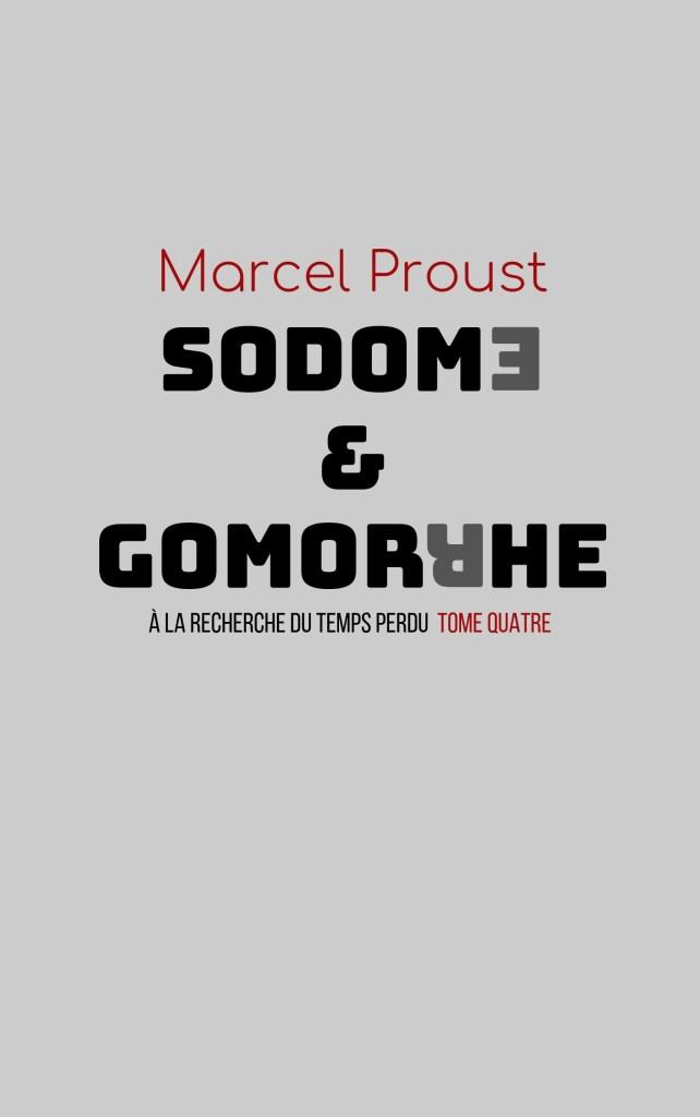 Couverture de Sodome et Gommorhe en mode Bauhaus
