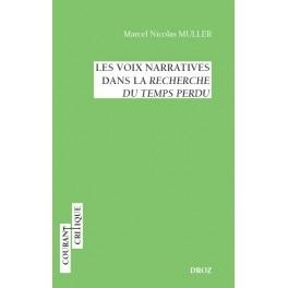 Couverture du livre Les voix narratives dans la Recherche du temps perdu