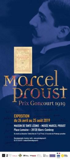 Affiche de l'exposition Proust prix Goncourt 1919