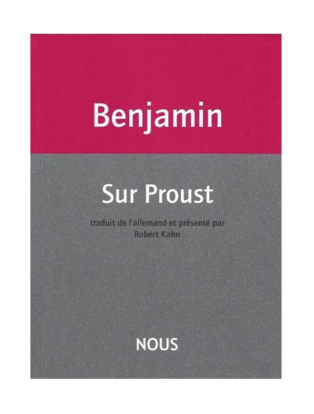 Sur Proust de Walter Benjamin