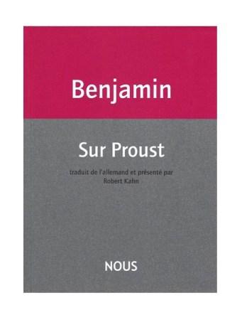 Couverture du livre Sur Proust de Walter Benjamin
