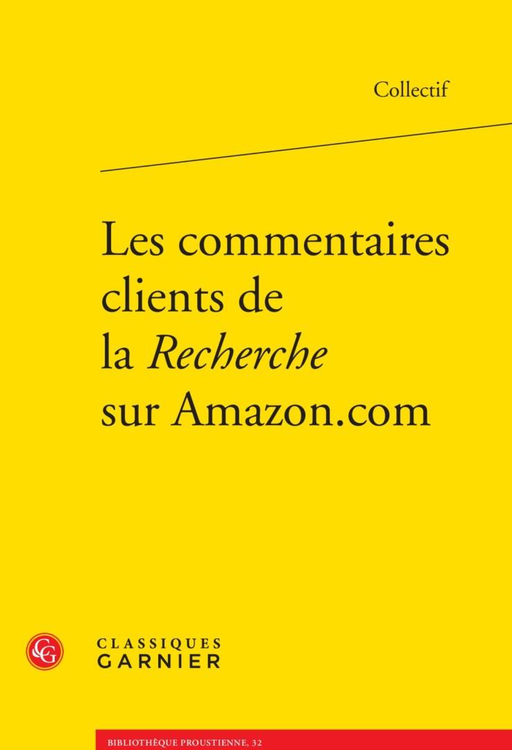 Les commentaires clients de la Recherche sur Amazon.com - Proustonomics