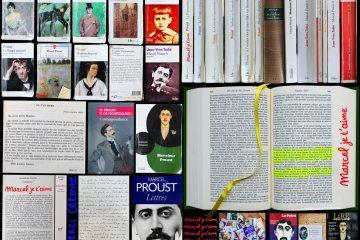Composition photographique avec des livres de Proust et sur Proust