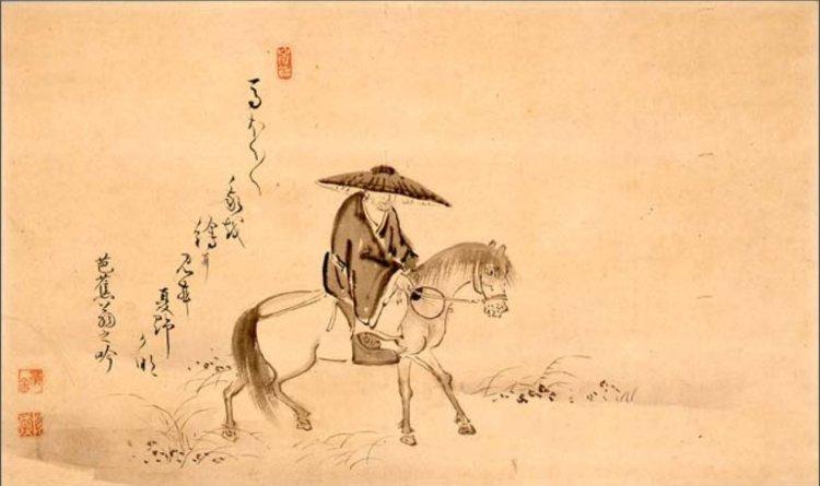 Dessin avec Bashô à cheval