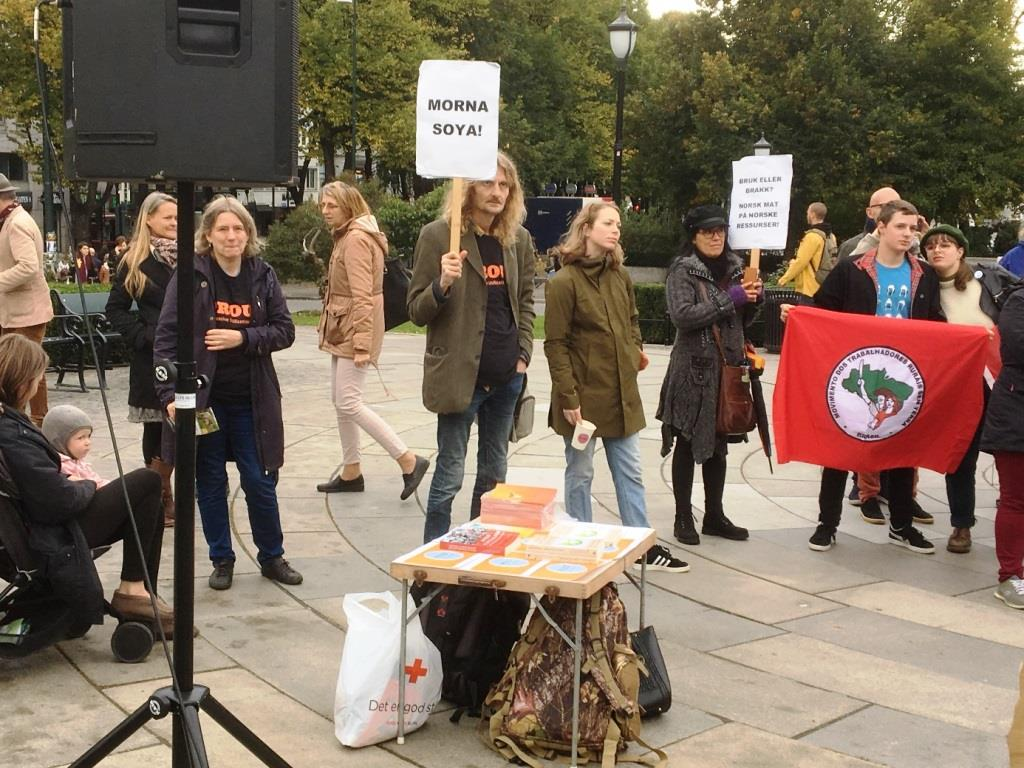 PROUT Norway marches for the promotion  of local fodder in agriculture