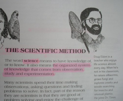 The scientific method text.