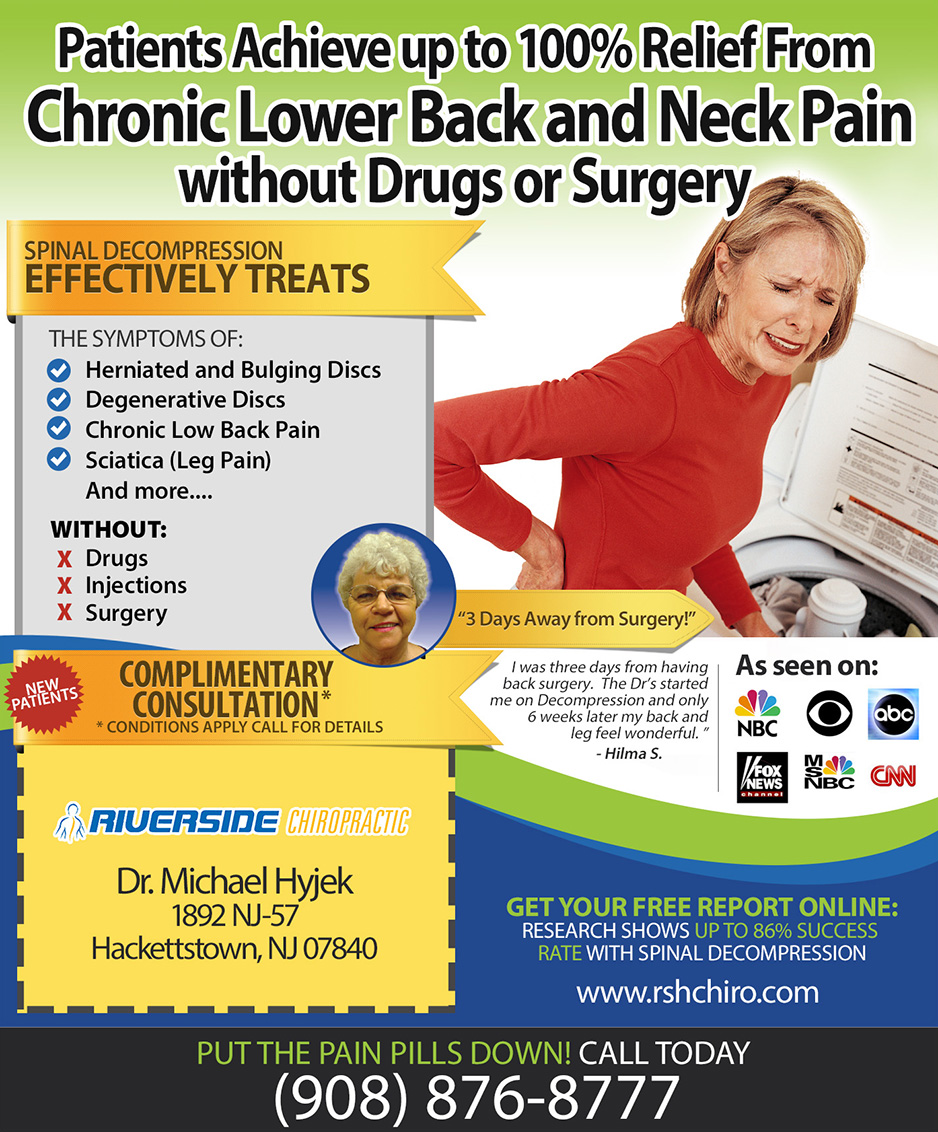 Relief from chronic back and neck pain.