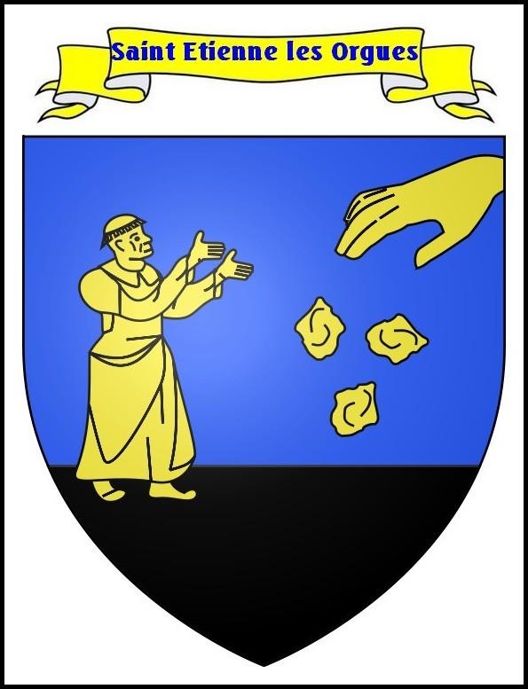 Blason de St Etienne Les Orgues