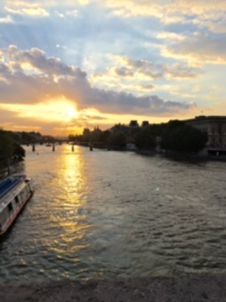 Sunset from the Pont Neuf over the Seine