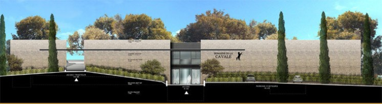 Artists impression of new Dubrule winery