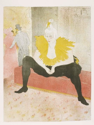 Clownesse-assise, INHA, Bibliothèque, Collections Jacques Doucet
