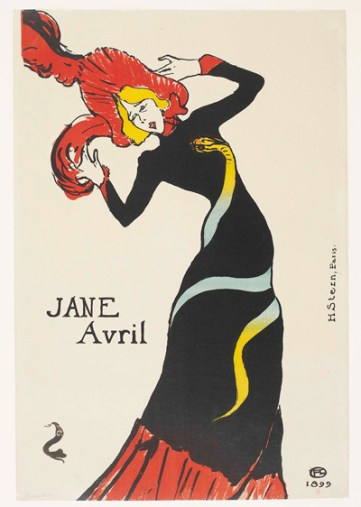 Jane Avril, INHA, Bibliothèque, Collections Jacques Doucet