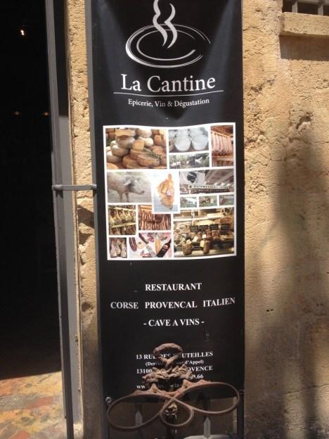 Restaurant Aix en Provence La Cantine