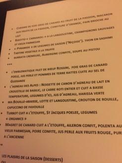 Aix en Provence restaurant Les Caves de Henri IV menu