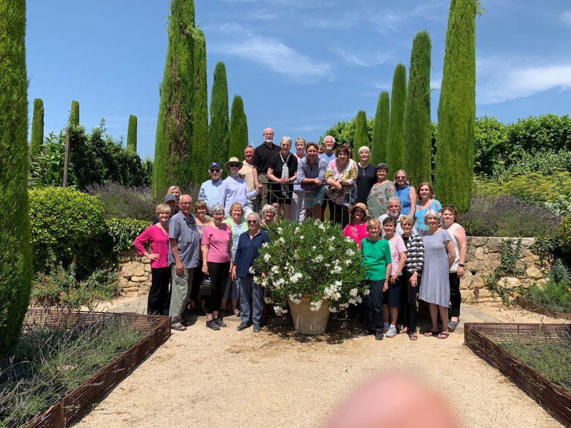 Group photo with Rainy Days Books Provence Tour