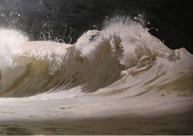 wave painting by dan adel