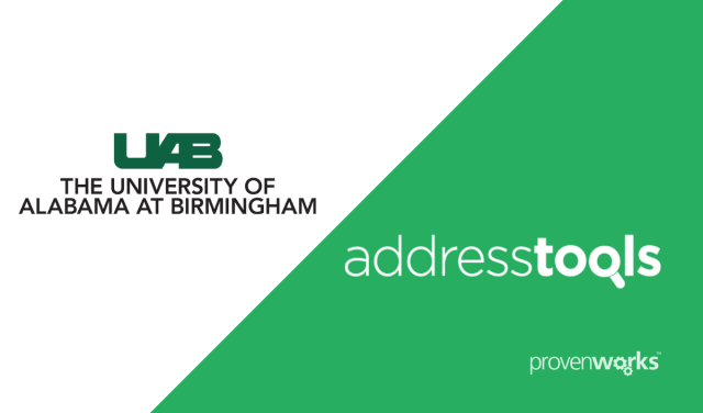 University of Alabama at Birmingham use AddressTools by ProvenWorks to connect with prospective students