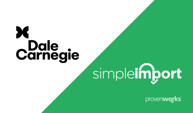 dale carnegie use simpleimport for salesforce to support their franchise network