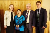 Jonathan and Satomi with Dr & Mr Grubel. Dr Grubel was the first missionary Jonathan met when he first came to Japan.