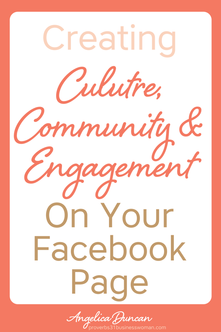 Want to beat the Facebook Algorithm? You can! Just by creating culture, community, and engagement on your Facebook page. It works everytime! Learn how NOW! #facebook #mompreneur #onlinebusiness #wahm #womeninbusiness #christianbusiness #christianwomeninbusiness #christianentrepreneurs #proverbs31 #proverbs31woman #proverbs31businesswoman #proverbs31enrepreneur #p31 #angelicaduncan #silkoversteel #sos