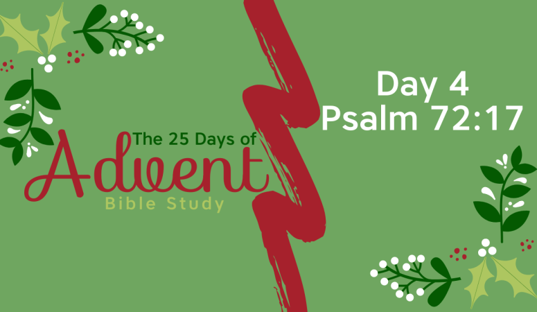 25 Days of Advent Bible Study Series {Day 4}