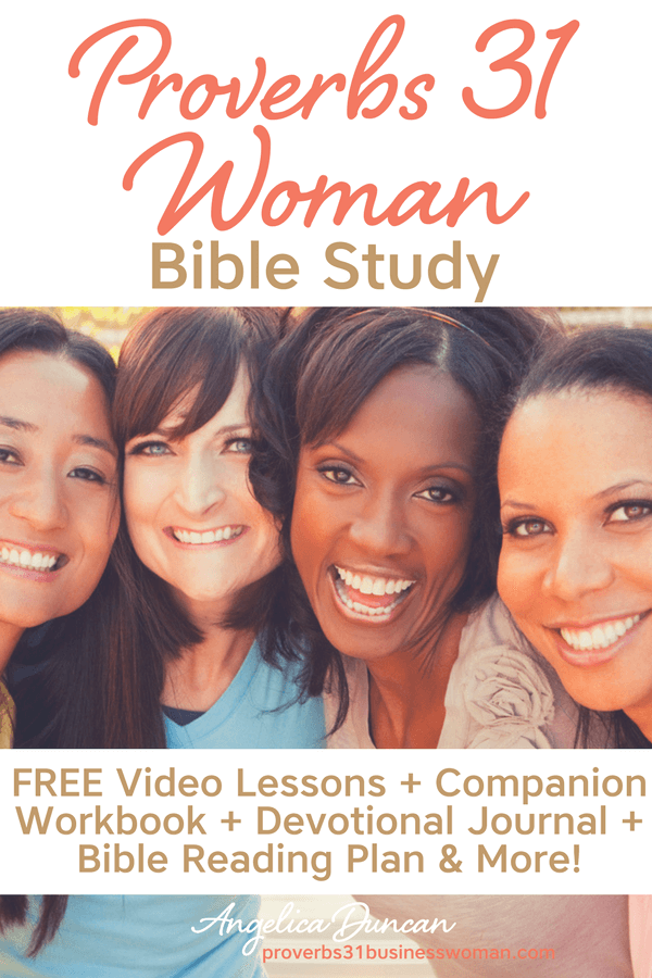 Join us for the FREE Proverbs 31 Woman Bible Study! Companion Workbook + Devotional Journal + Bible Reading Plan + Video Lessons & More!