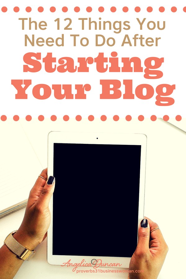 Let's be sure you're off on the right foot to having a successful blog! There are 12 things you need to do immediately after starting your blog. Plus, you'll know what NOT to do when starting your blog for the first time!