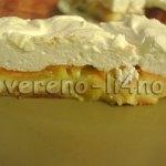 Торт с дыней и яблоками в сливочной помадке