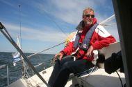Tämä kuva on Minnalle: näin vinossa vene voi olla. Jos meinaa olla enemmän vinossa, reivataan.
