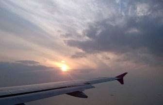 飛行機からの美しい景色2