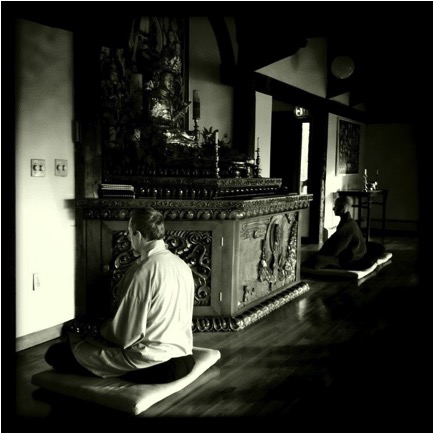 Monestary B&W sitting