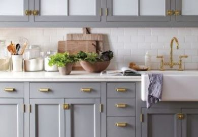 Rustic Gray Kitchen Cabinets