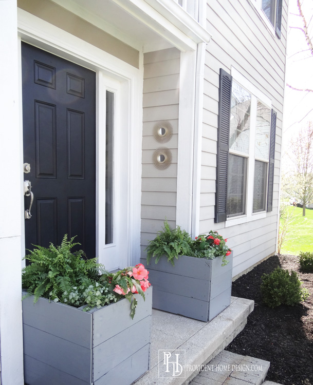 DIY Large Wooden Planters